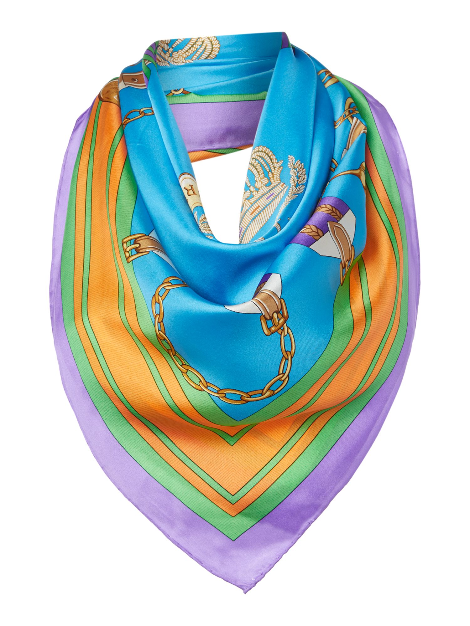 Julia belt silk square scarf