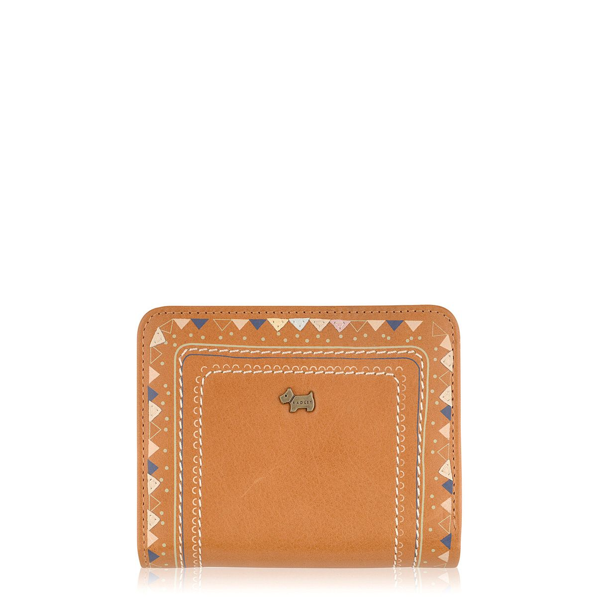 Tan medium flapover purse