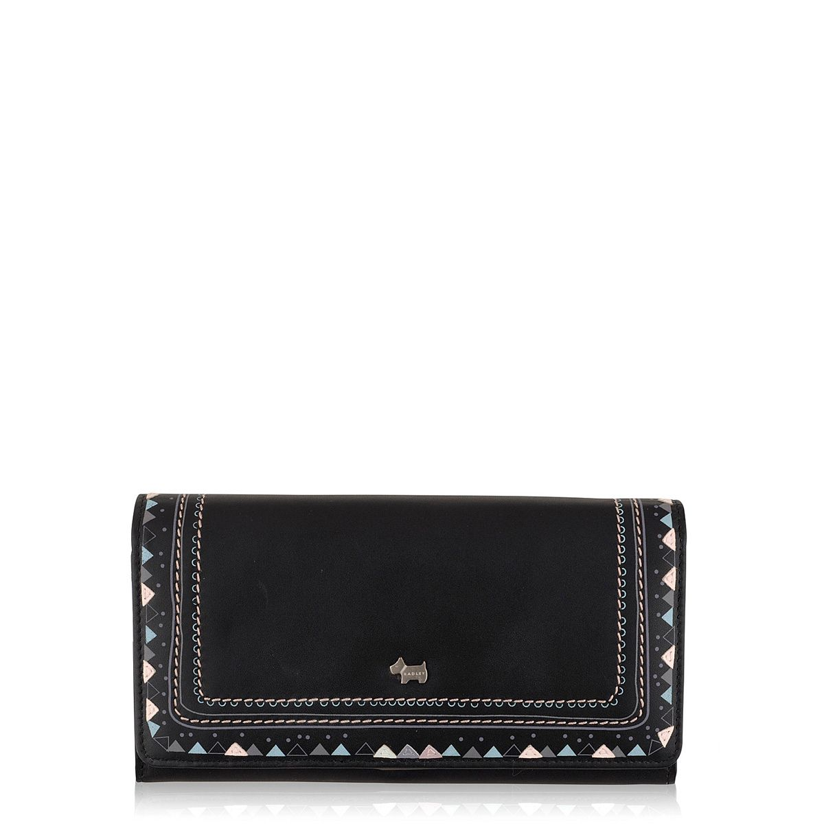 Eyre black large flapover purse
