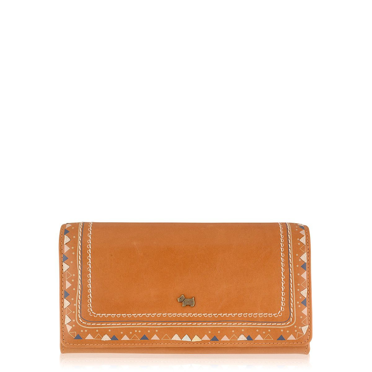 Tan large flapover purse