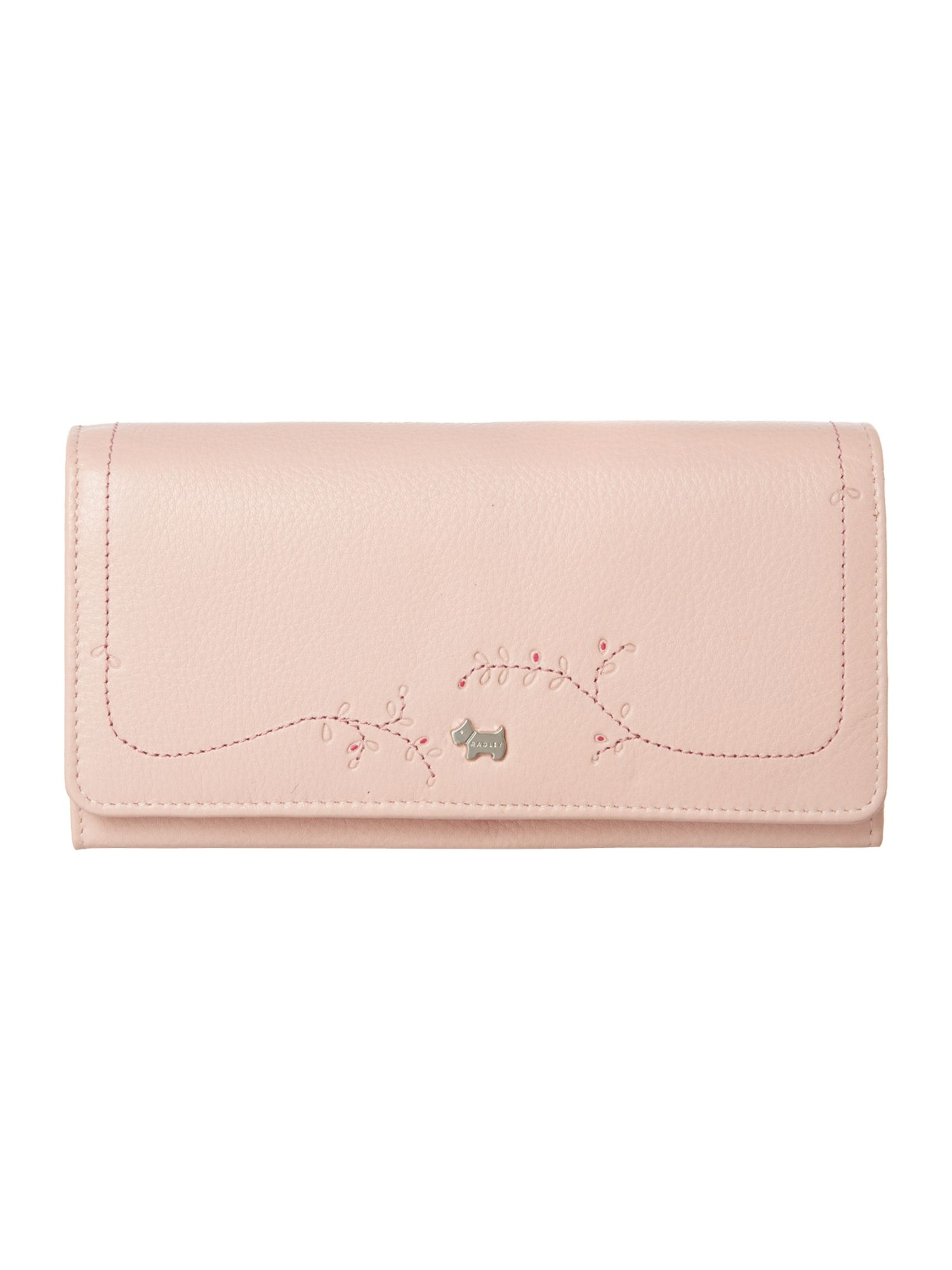 Little laurels pink large flapover purse