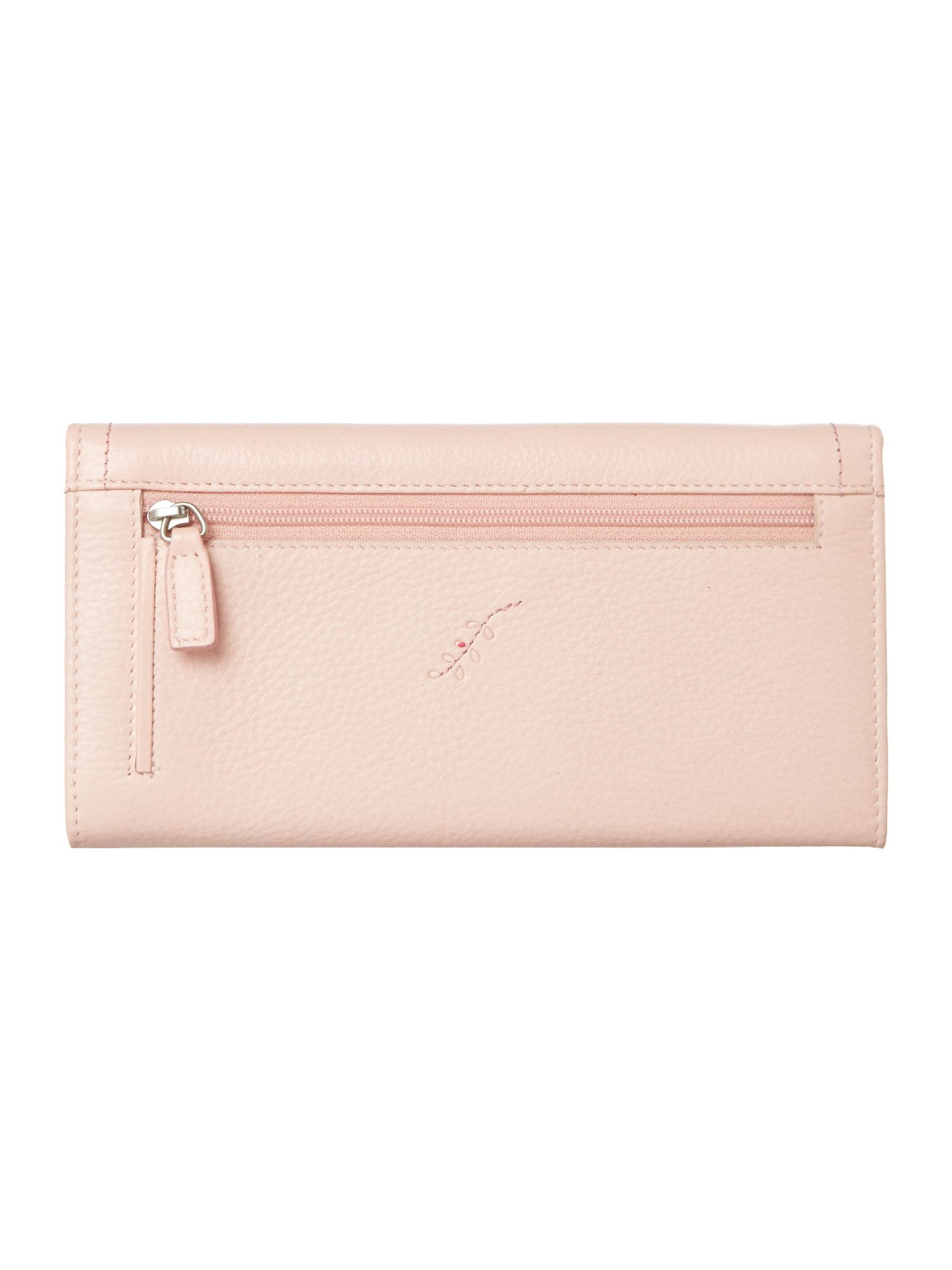 Pink large flapover purse
