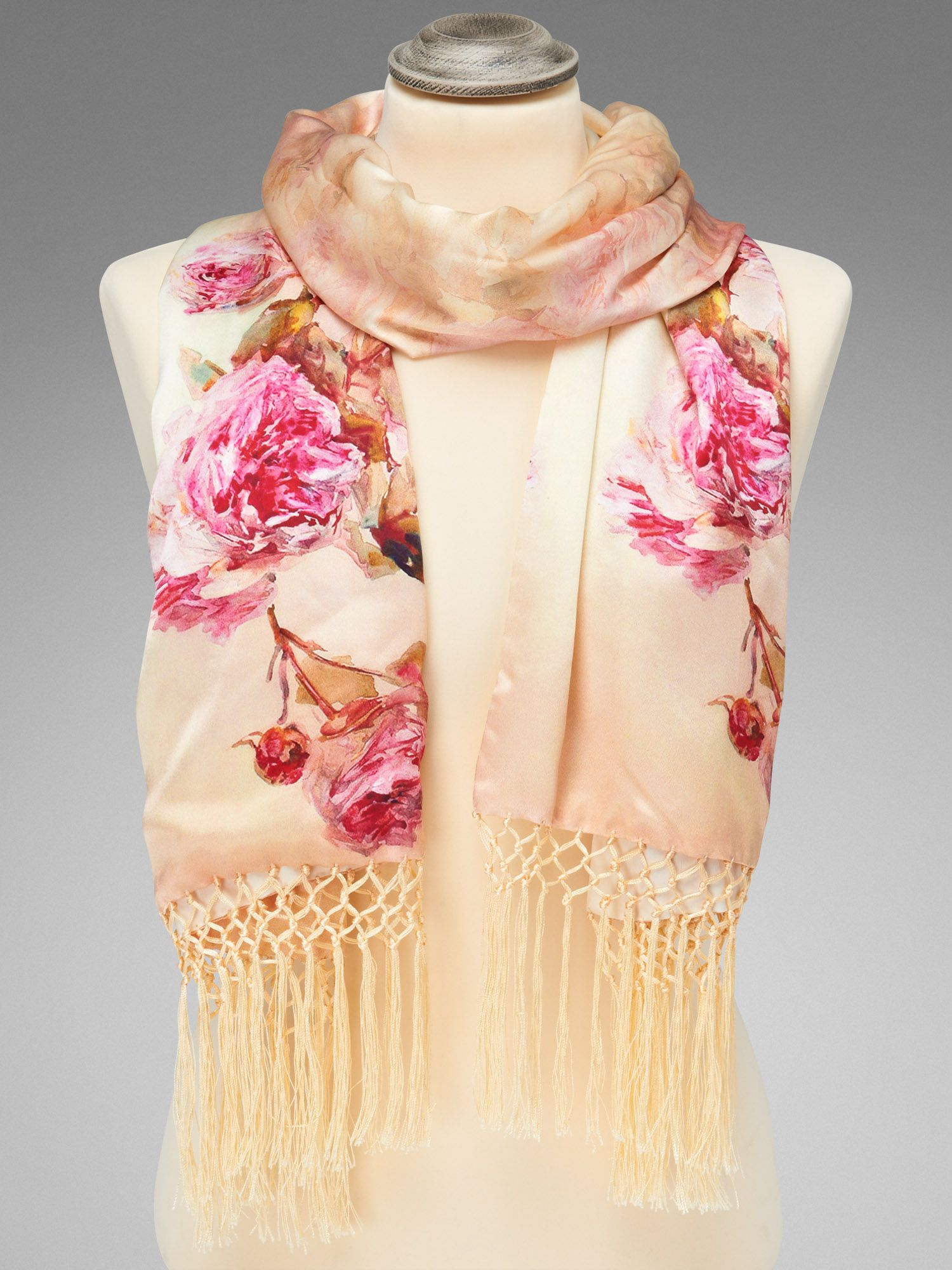 Printed silk wrap