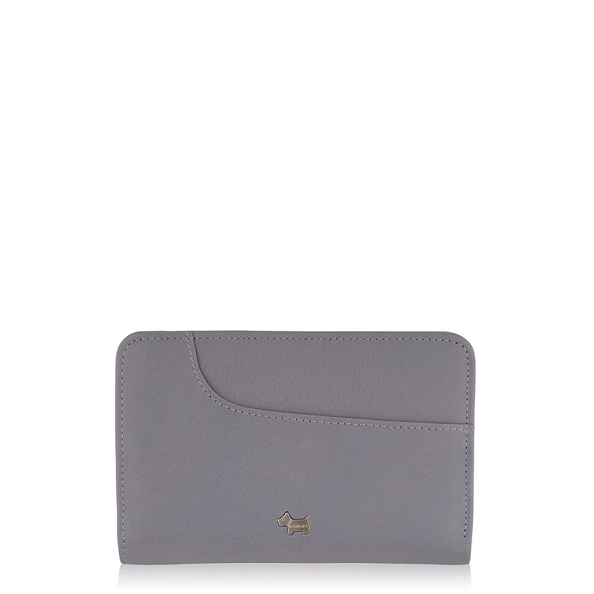Purple medium zip around purse