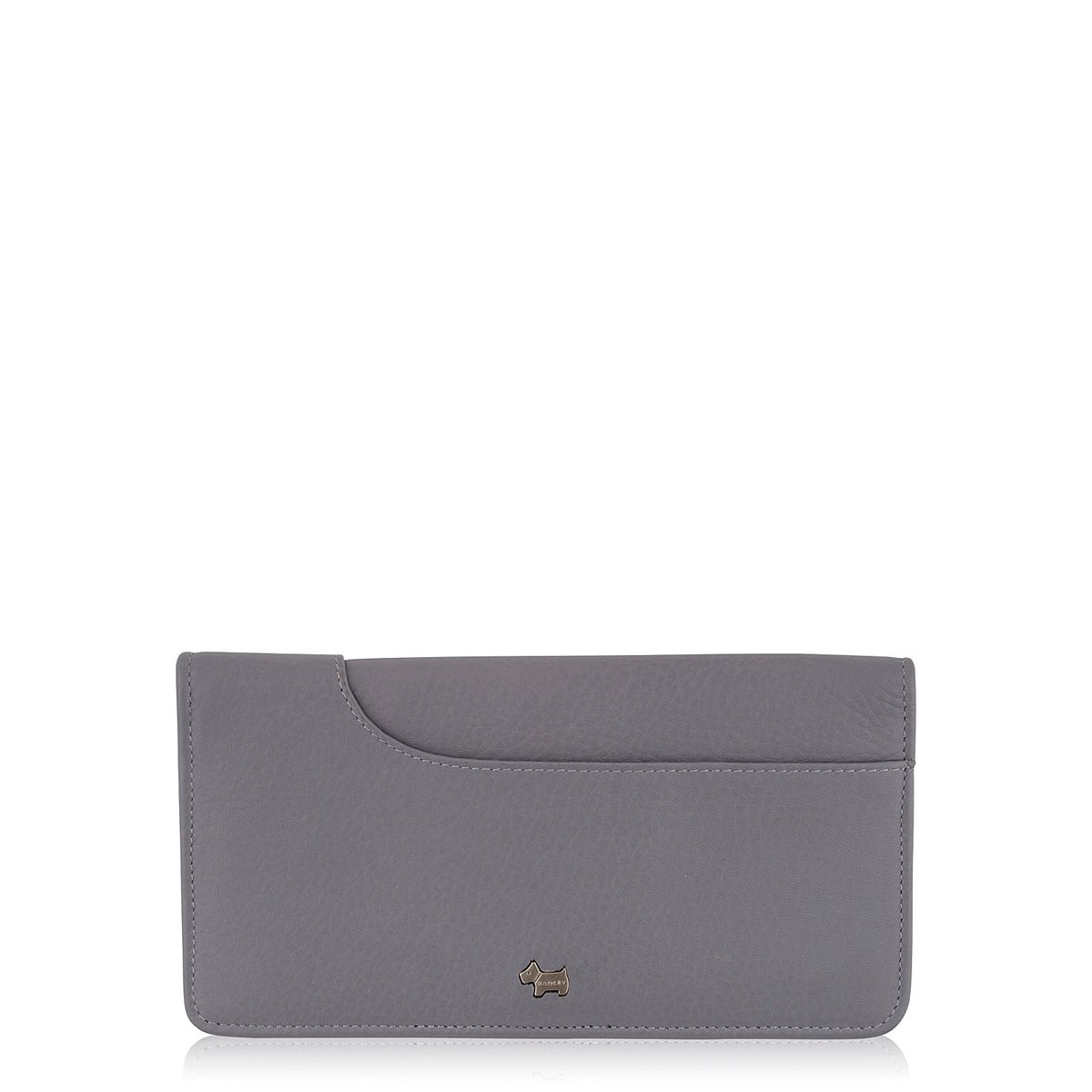 Purple large flapover purse