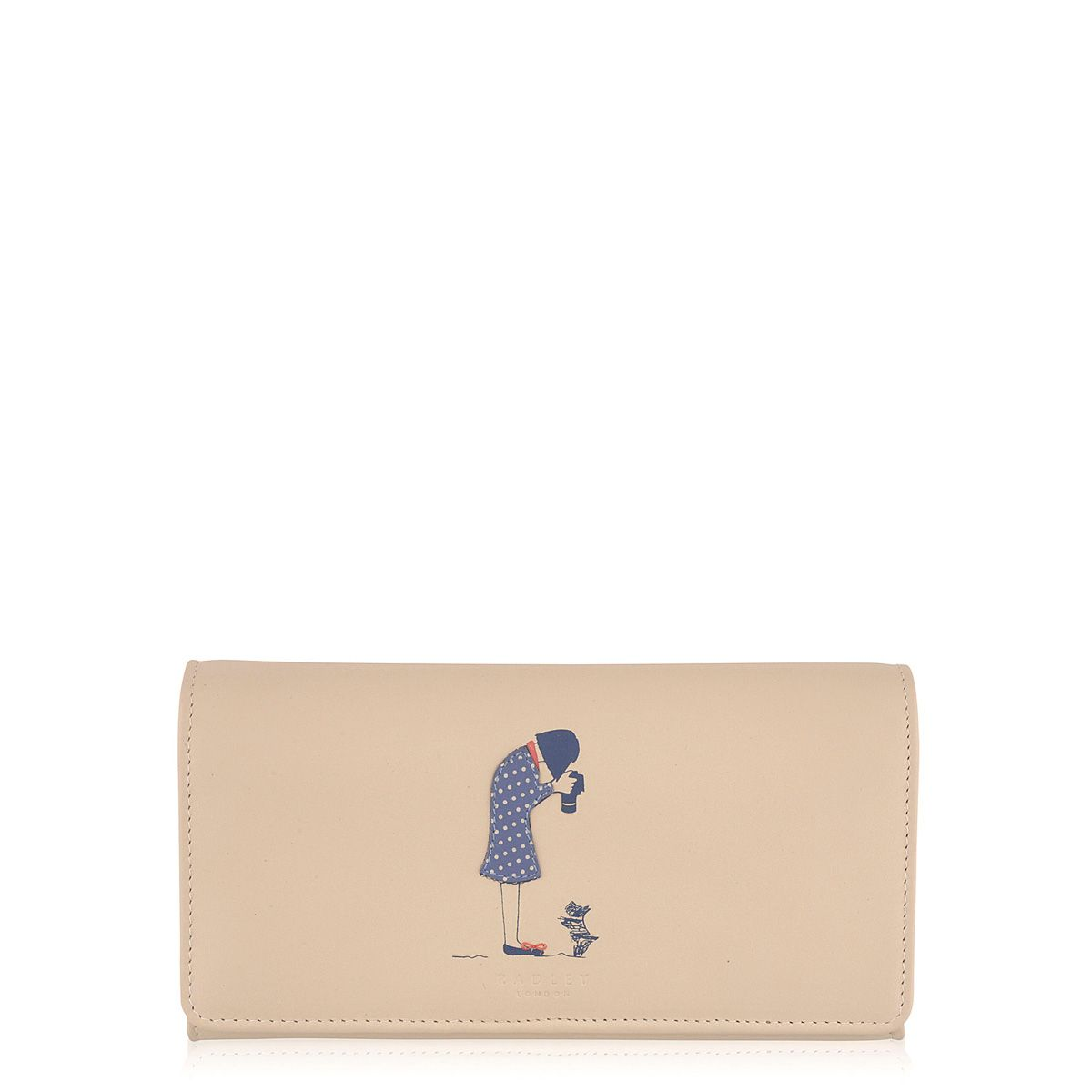 Snap happy neutral large flapover purse