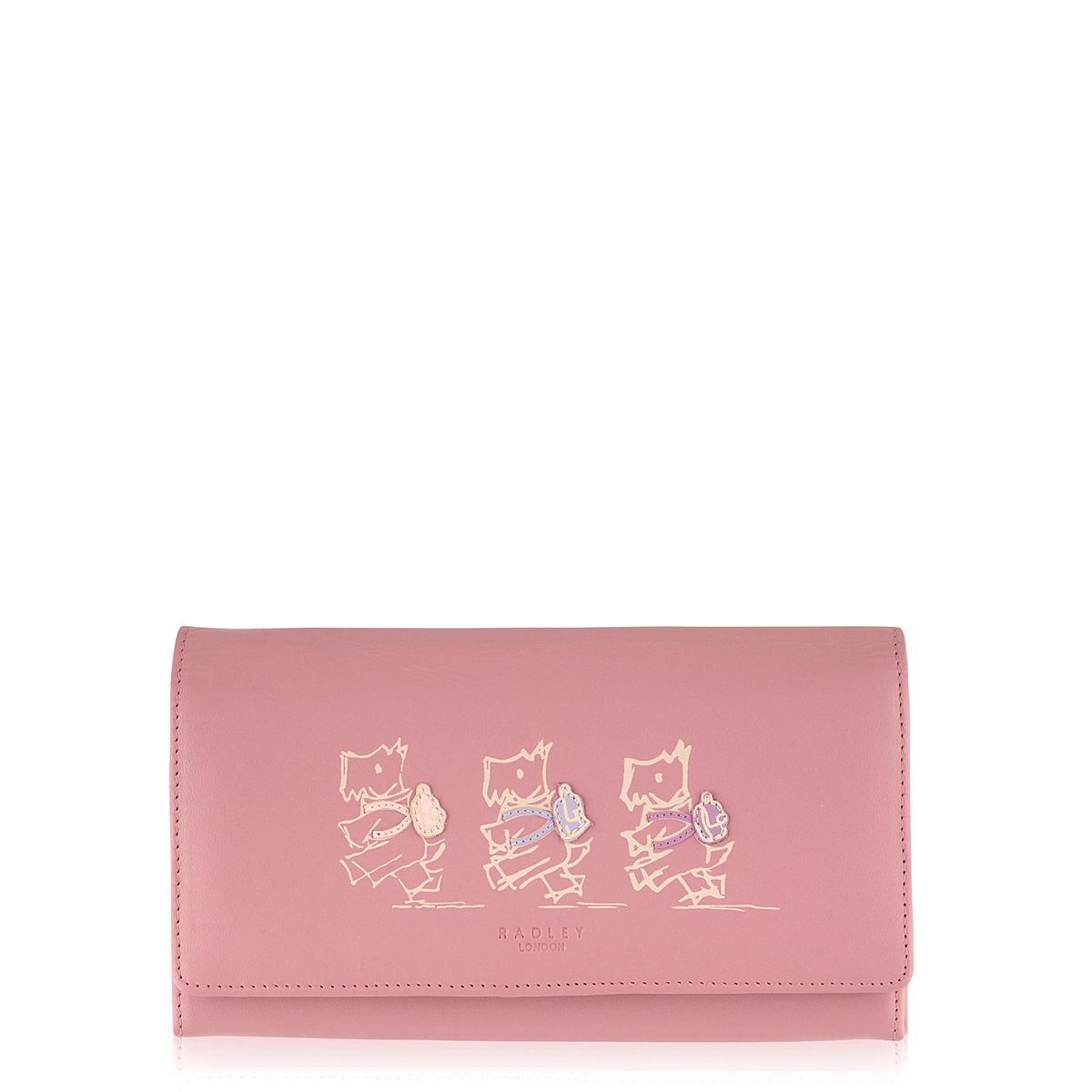 Walk the walk pink large flapover purse