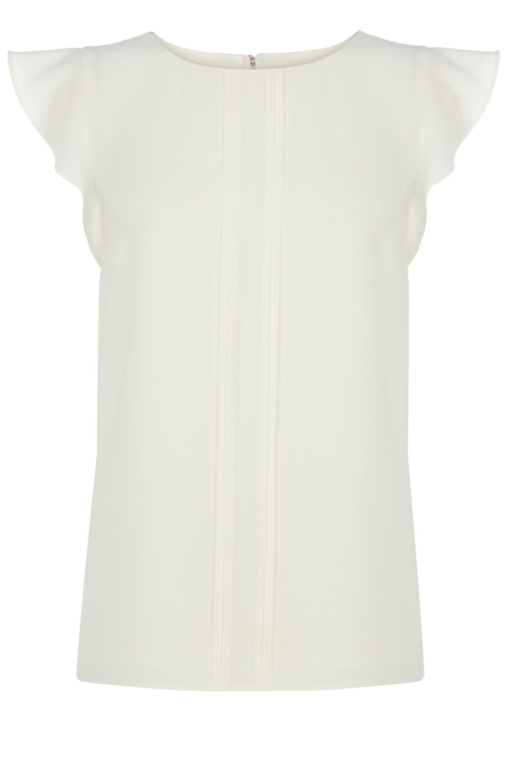 Pintuck frill sleeve top