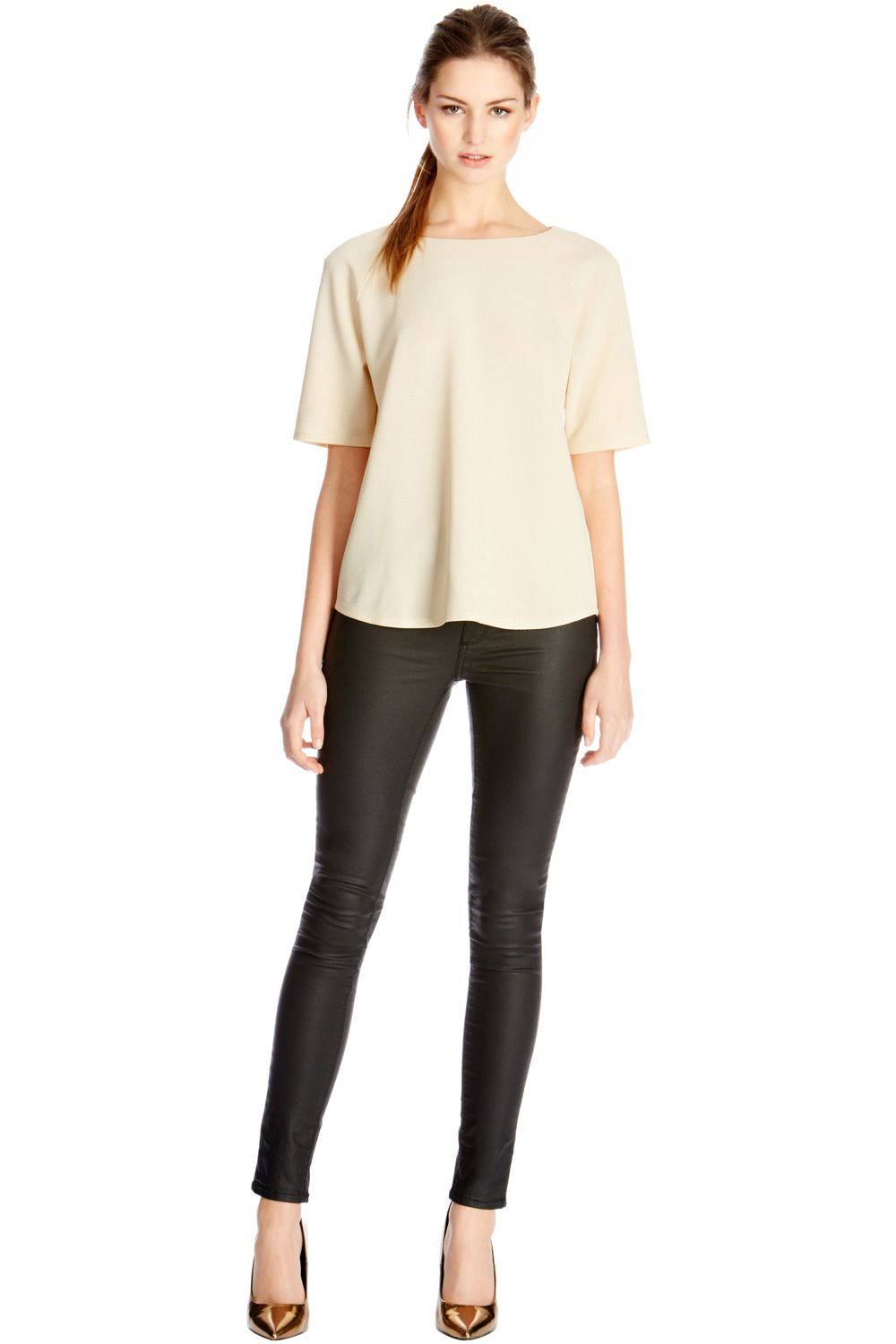 Textured crepe top