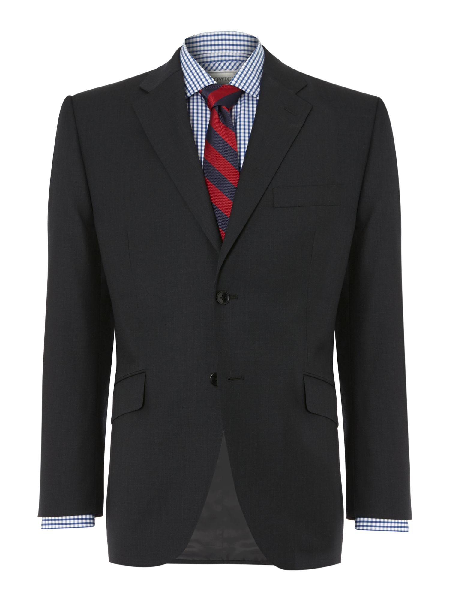 Men's Howick Tailored Fallon notch lapel nested suit, Charcoal