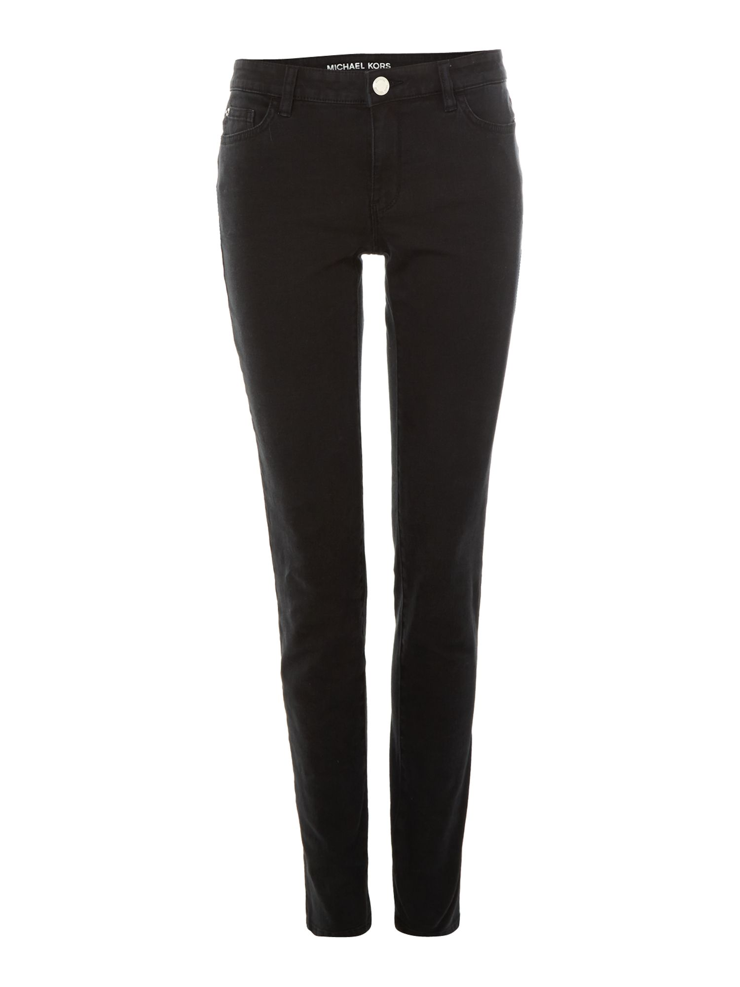 Slim black jegging jean