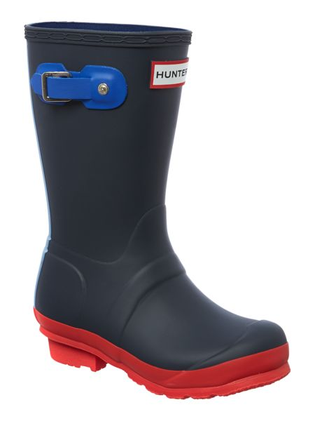 Hunter Kid`s Original Hunter contrast colour welly