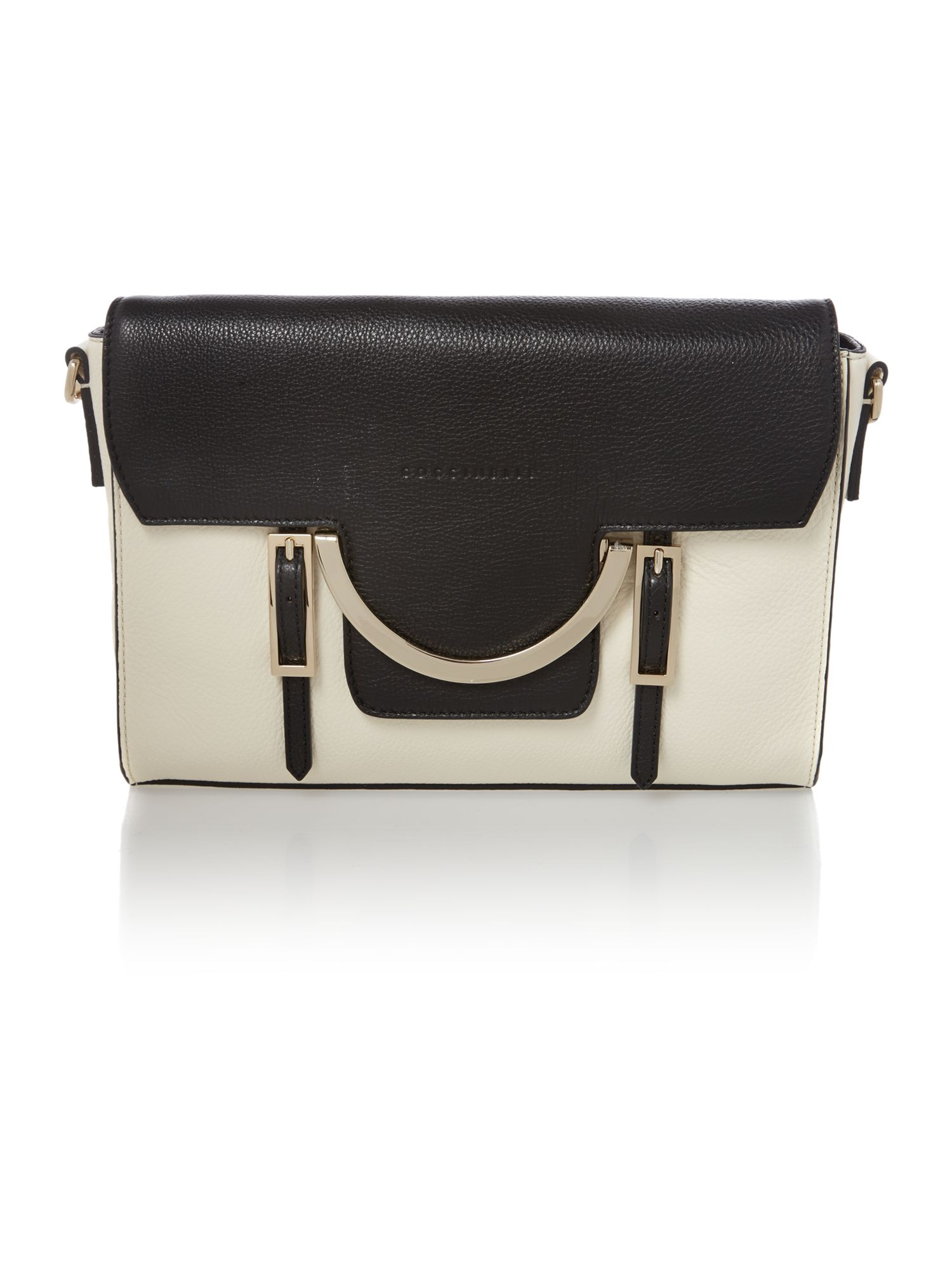 Celeste black/cream medium cross body bag