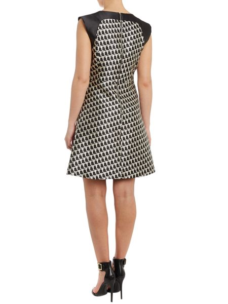 Tara Jarmon Printed v neck sleeveless dress