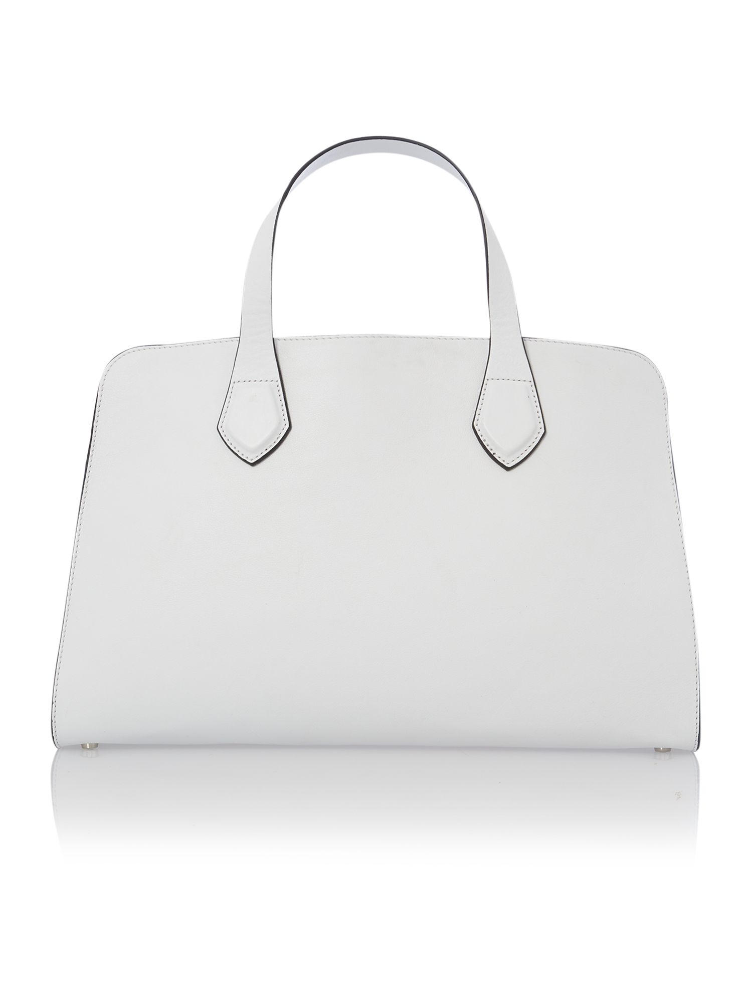 Moon white large tote bag with studs