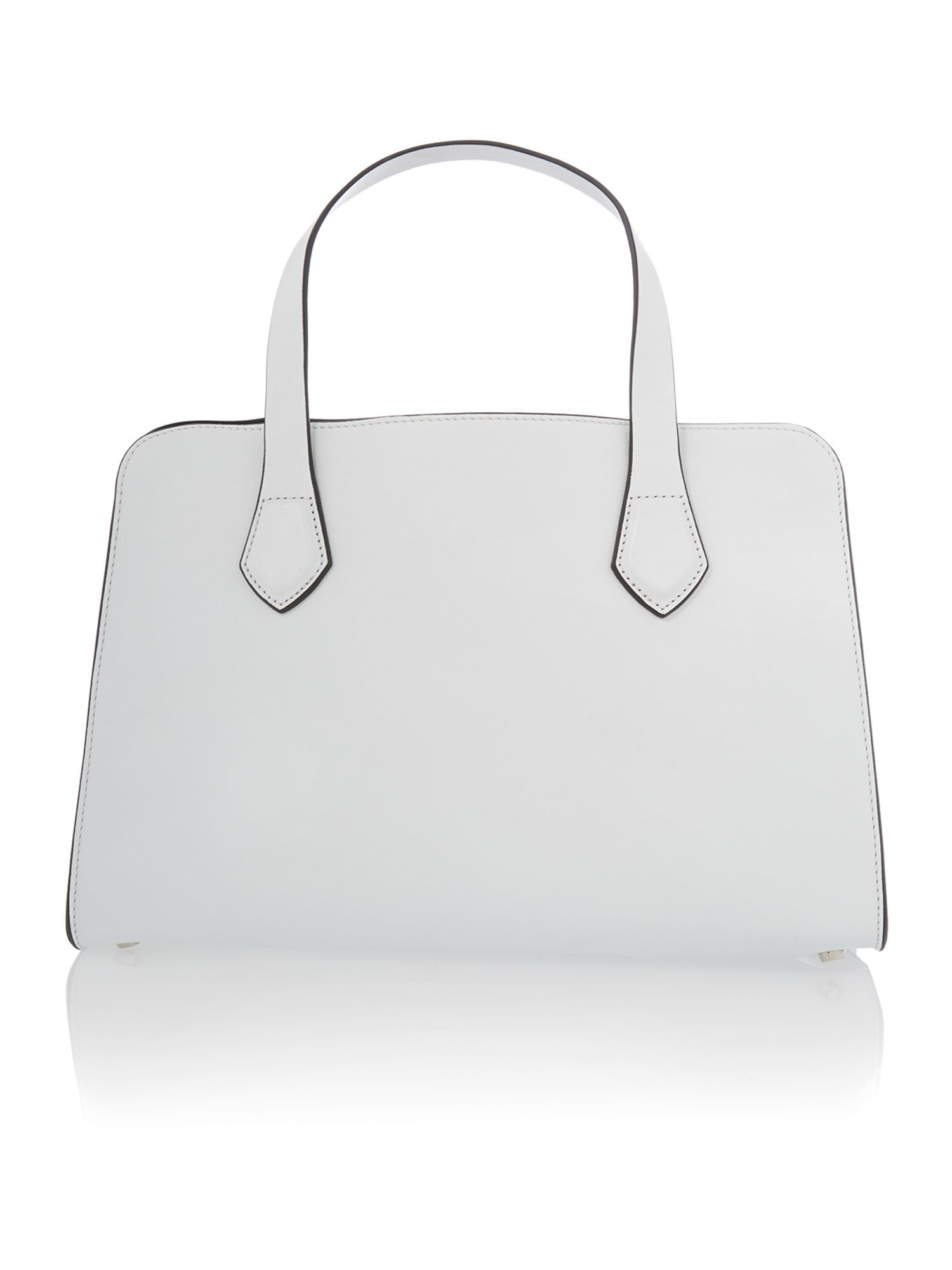Moon white small tote bag with studs