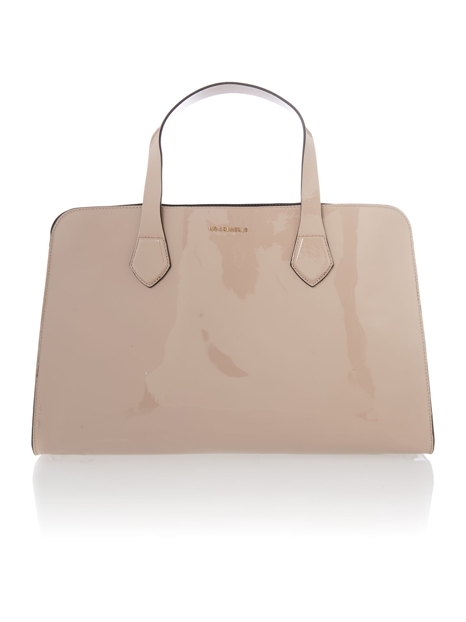 Moon neutral patent large tote