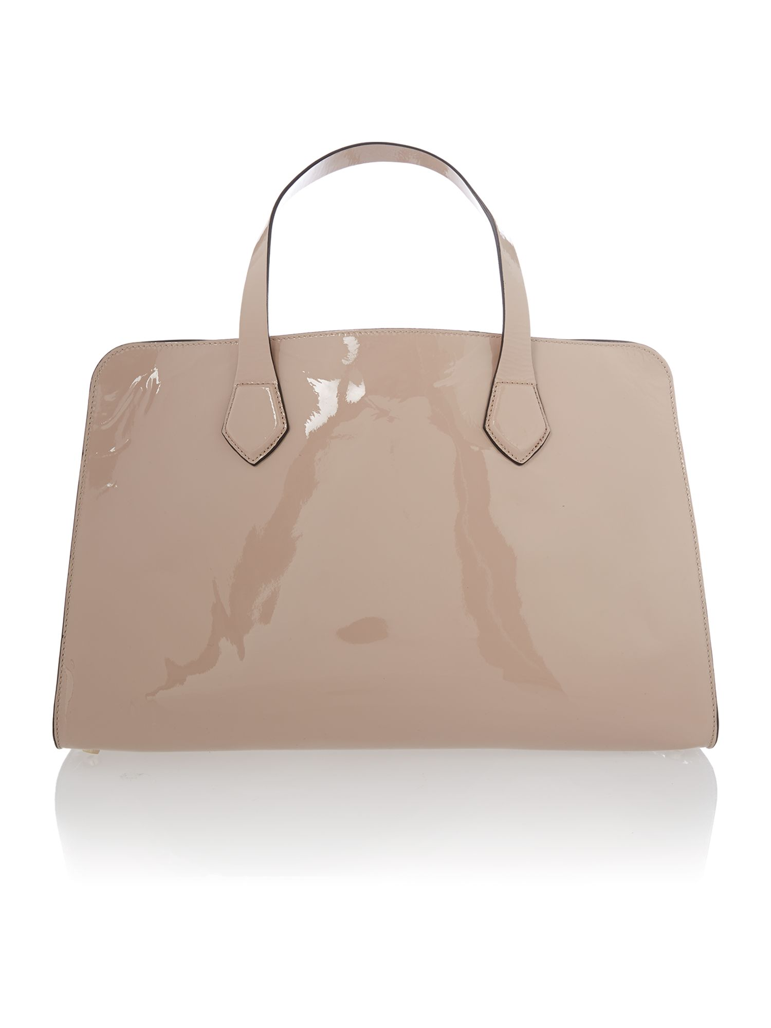 Neutral patent large tote