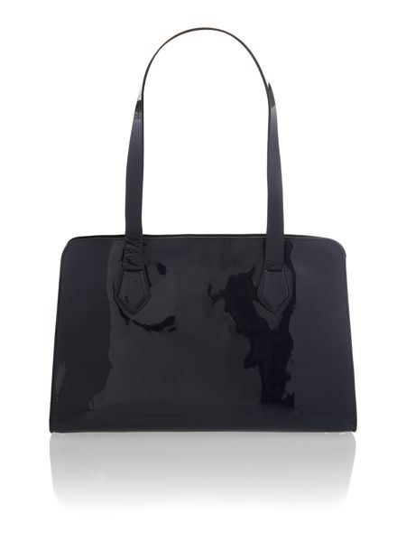 Coccinelle Navy patent small tote bag