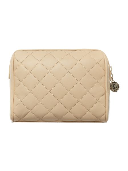 DKNY Neutral quilt cosmetic bag
