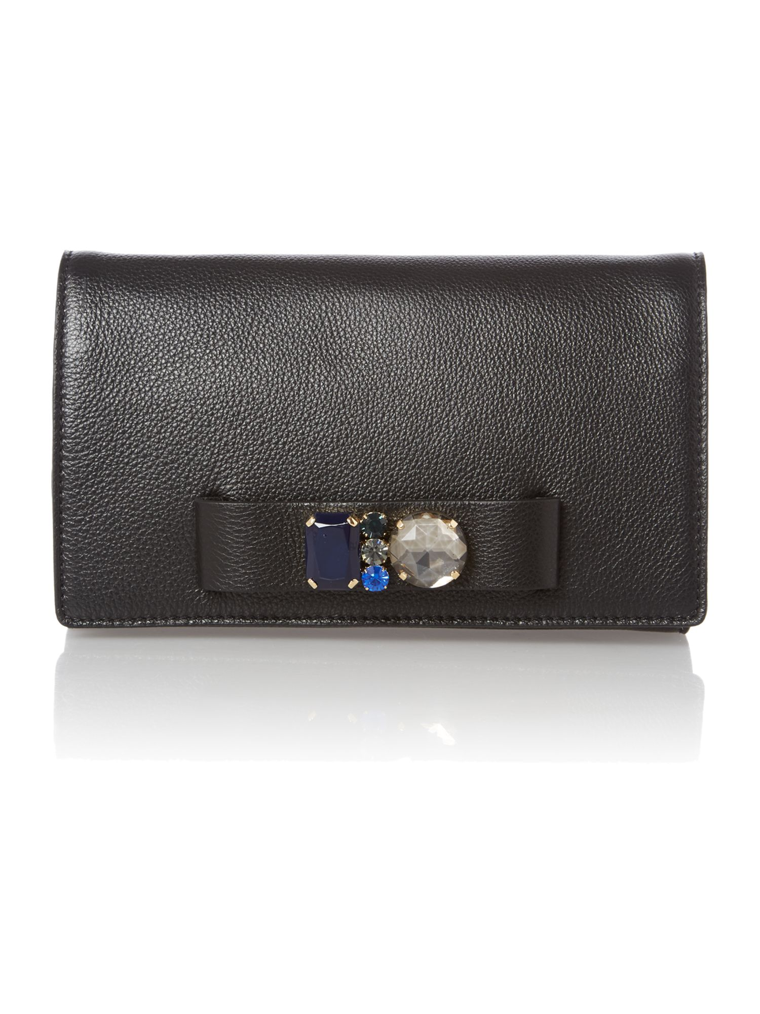 Black mini jewel crossbody bag