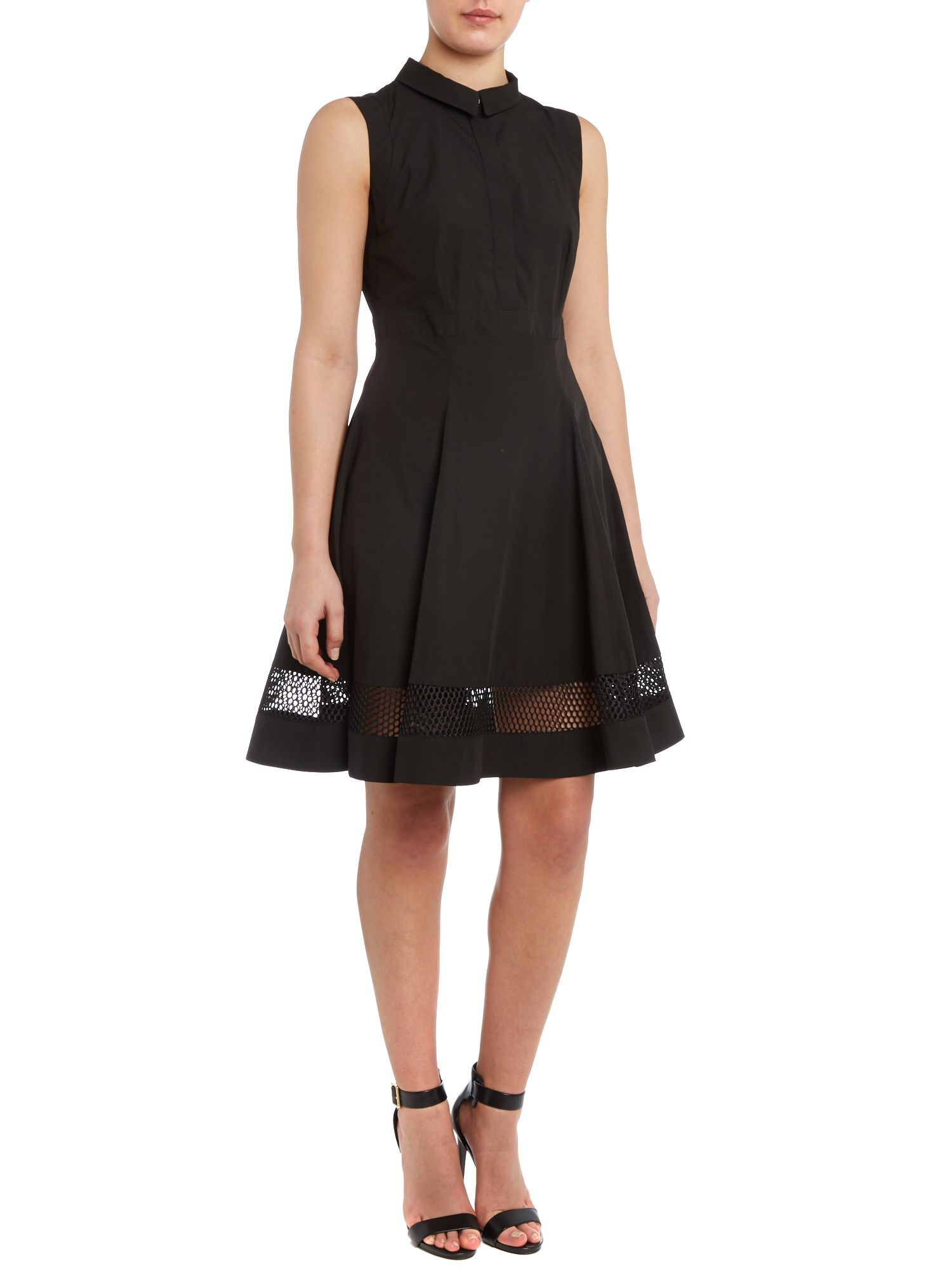 Sleeveless dress with hem detail