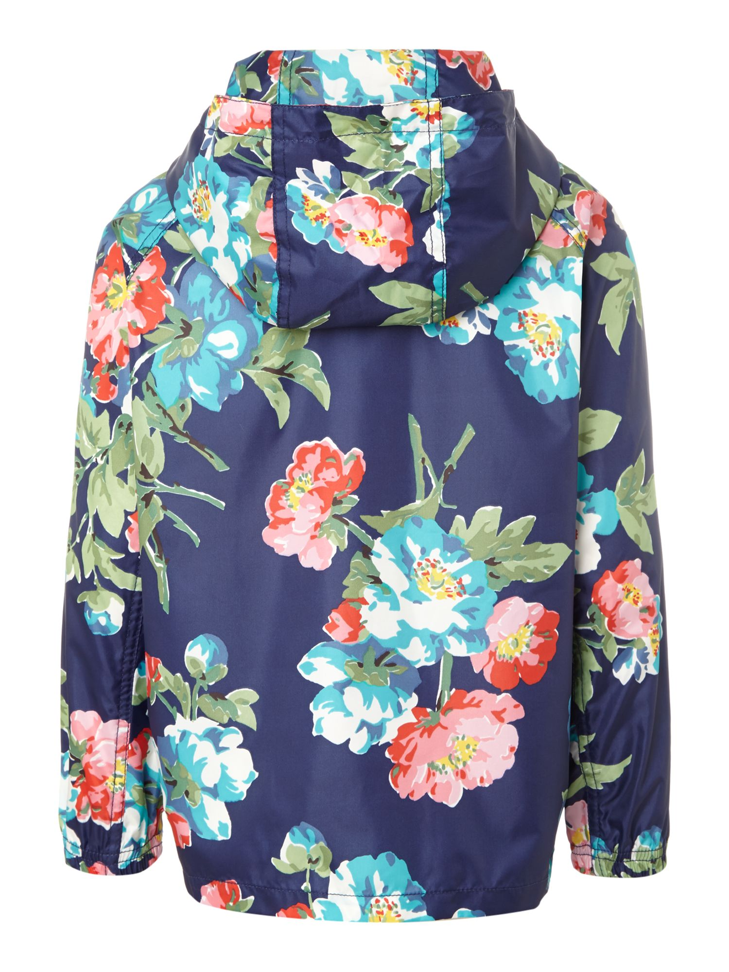 Girl`s floral fold-away showerproof rain mac