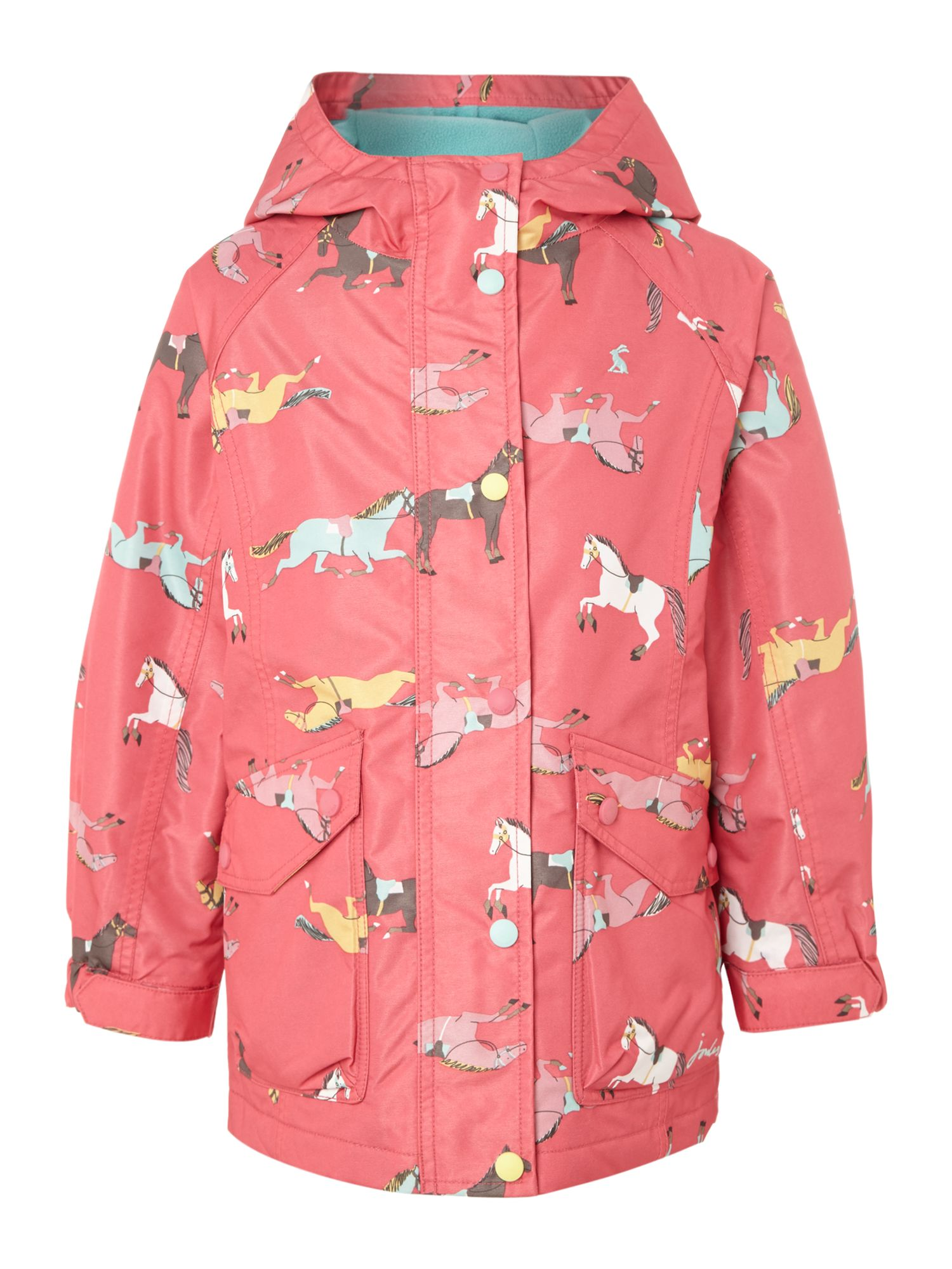 Girls pony print coat