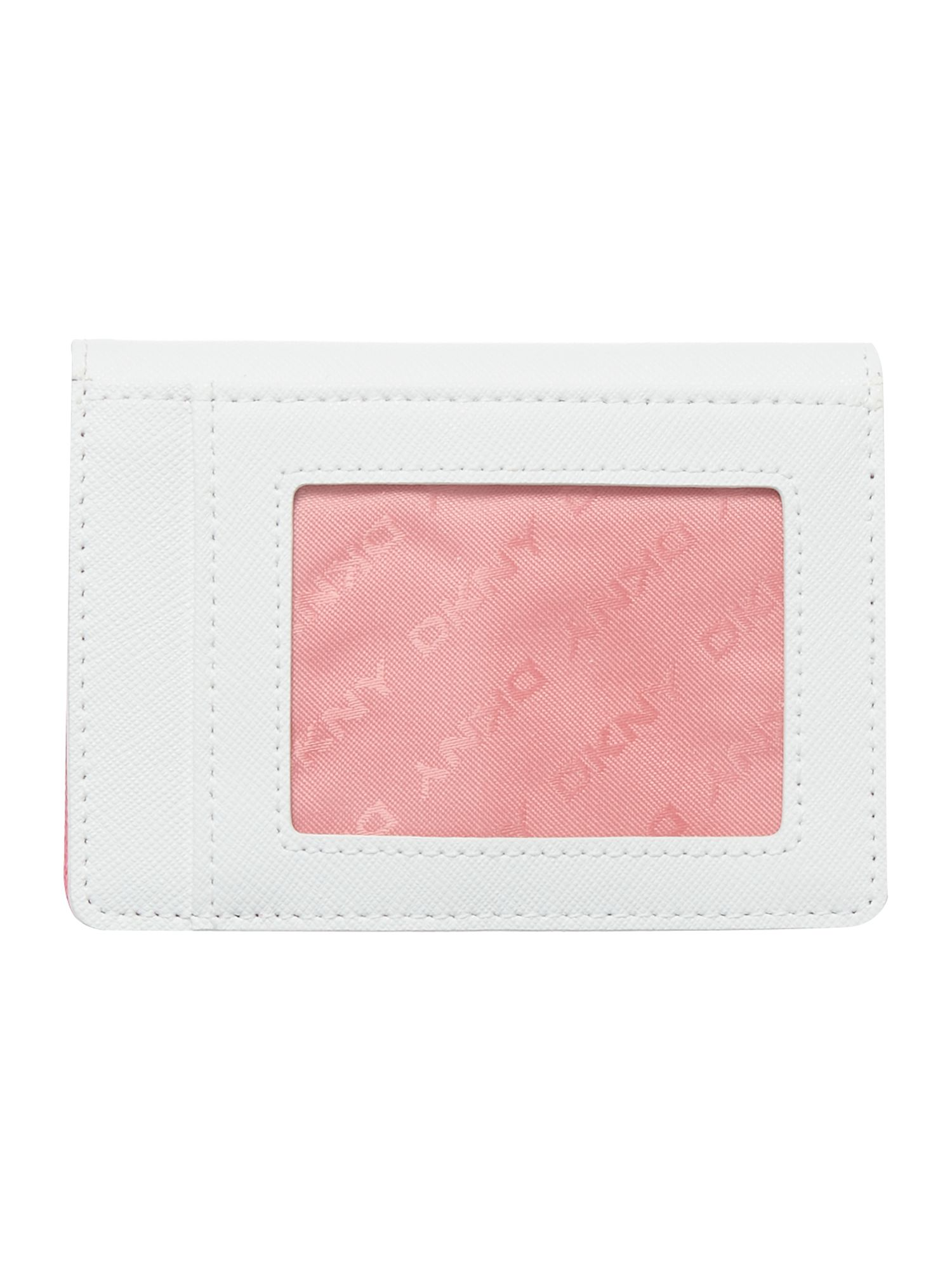 Saffiano white small card holder