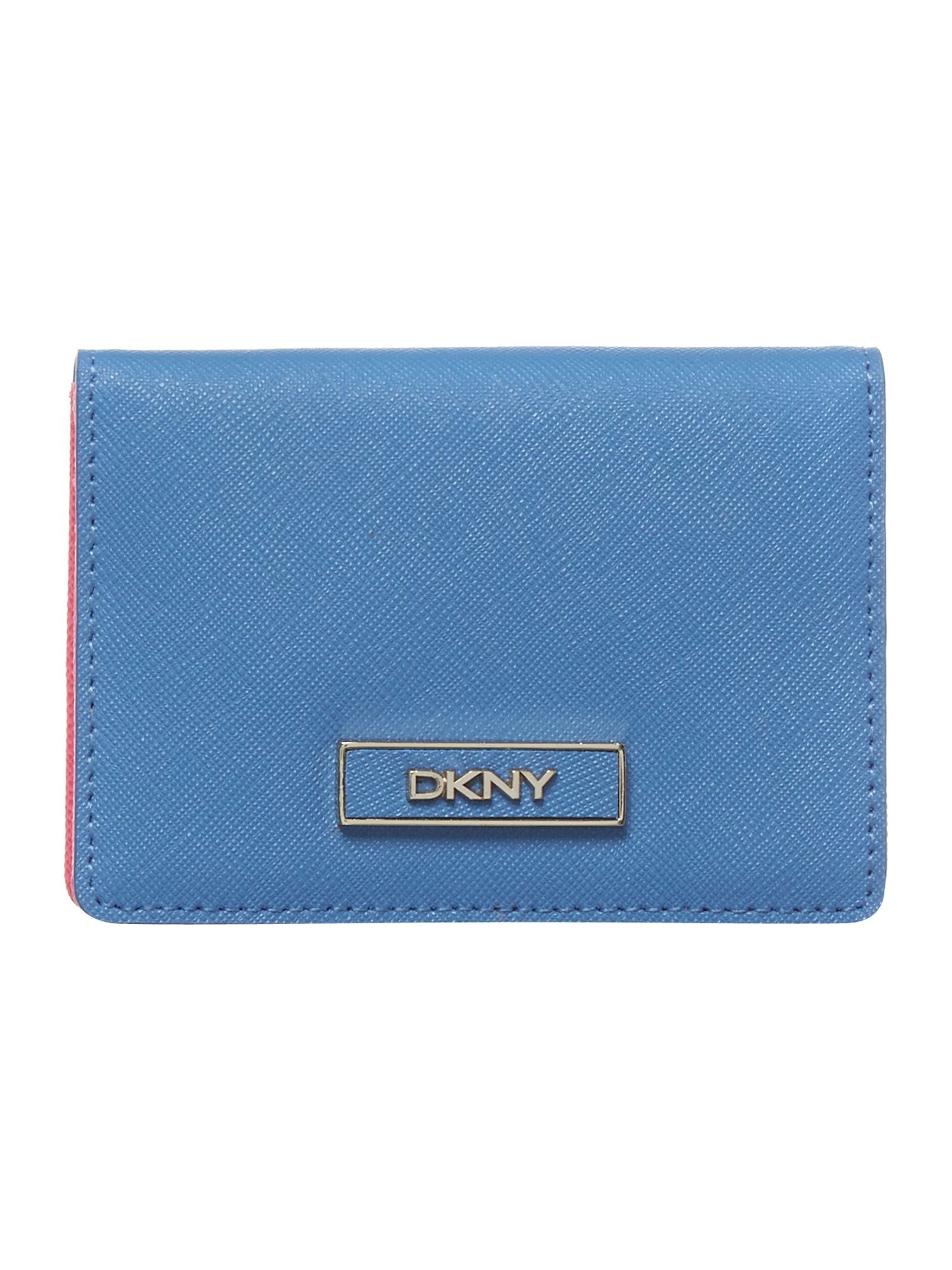 Saffiano blue small card holder
