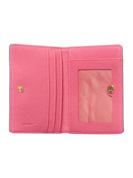 DKNY Saffiano blue small card holder