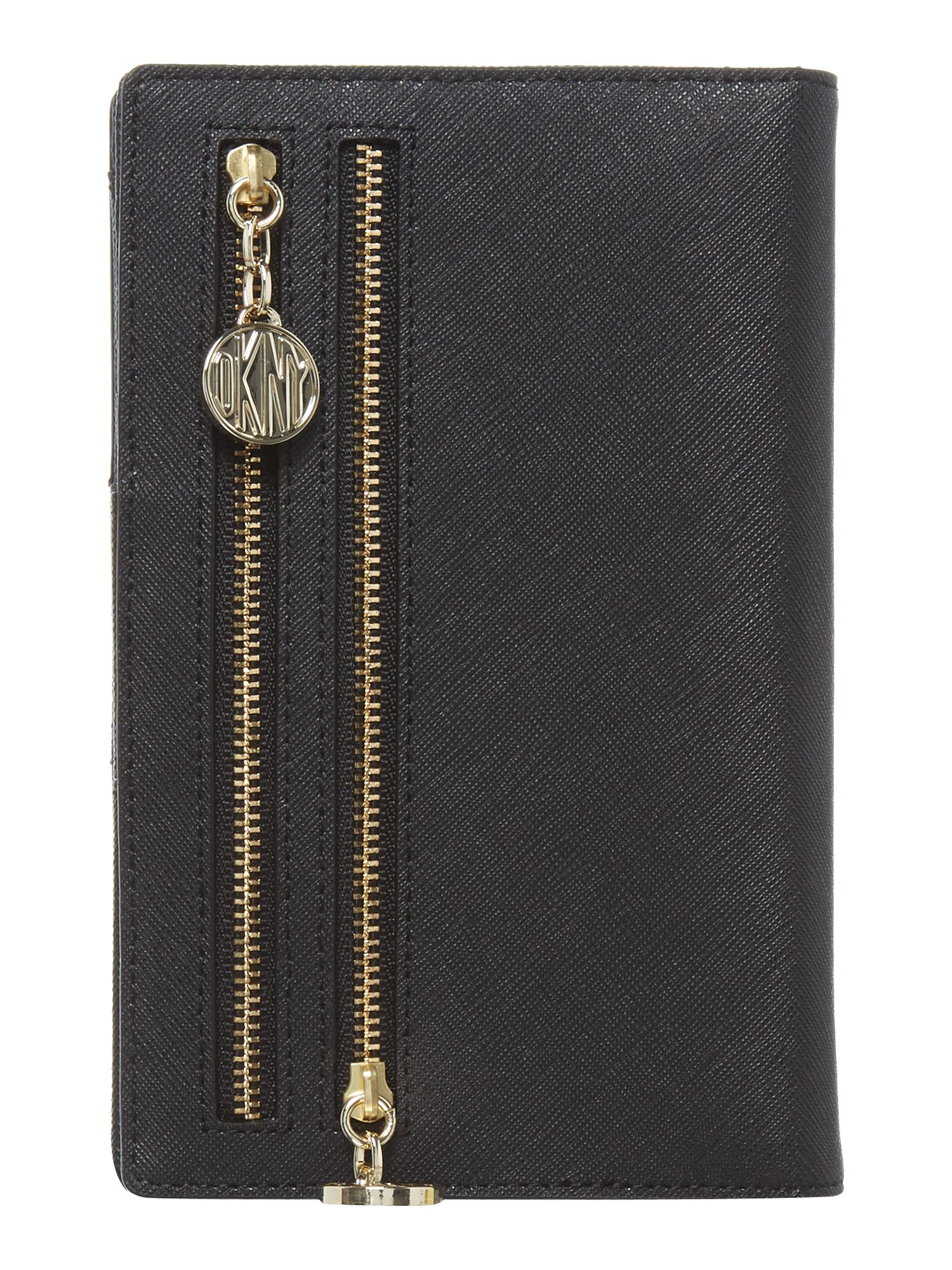 Saffiano black travel wallet