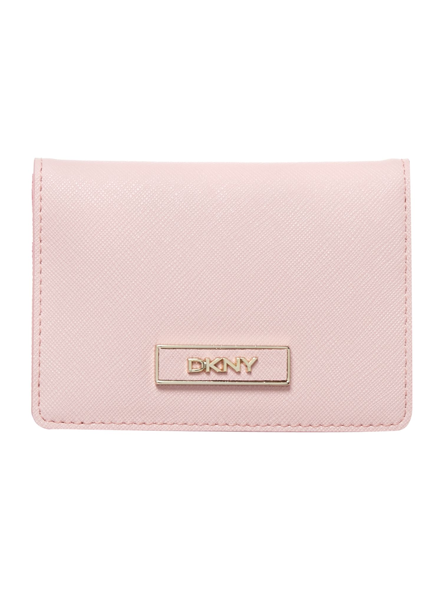 Saffiano pink small card holder