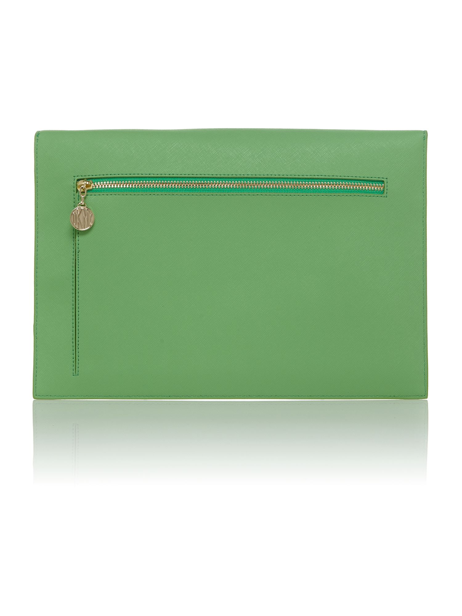 Saffiano green document holder