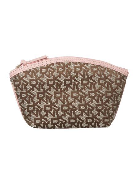 DKNY Saffiano pink cosmetic case set