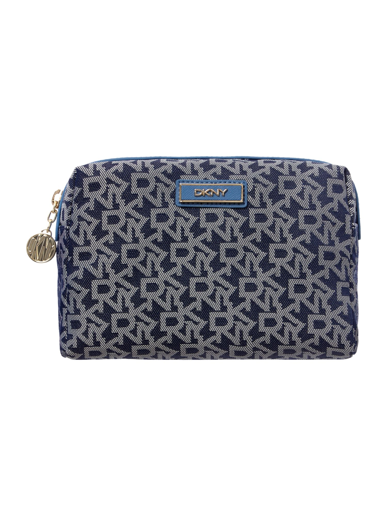Saffiano blue cosmetic case