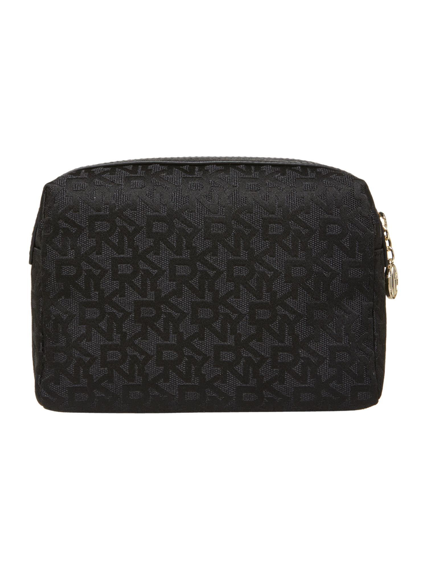 Saffiano black cosmetic case
