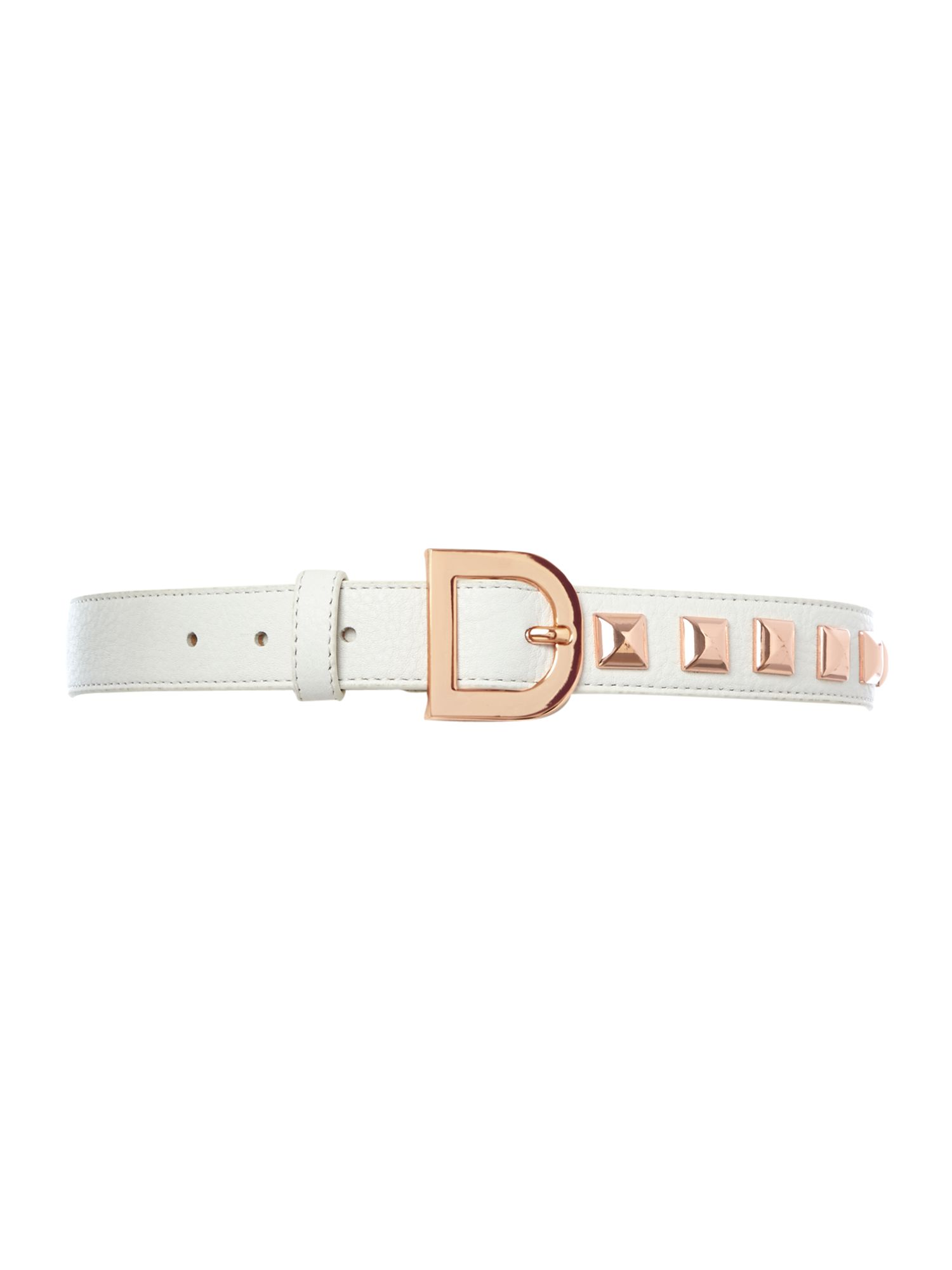 Leather stud belt