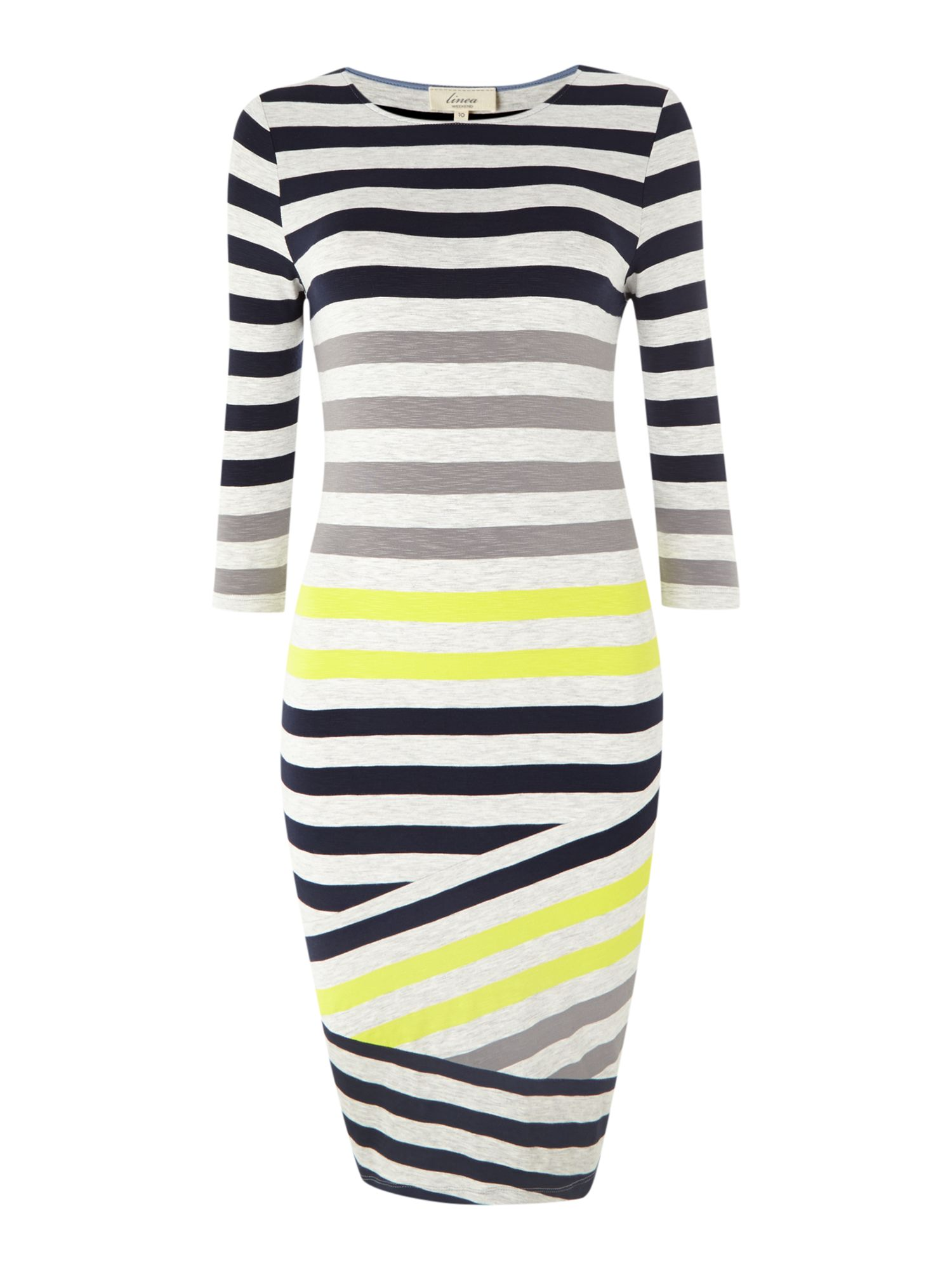Diagonal stripe multi-colour dress