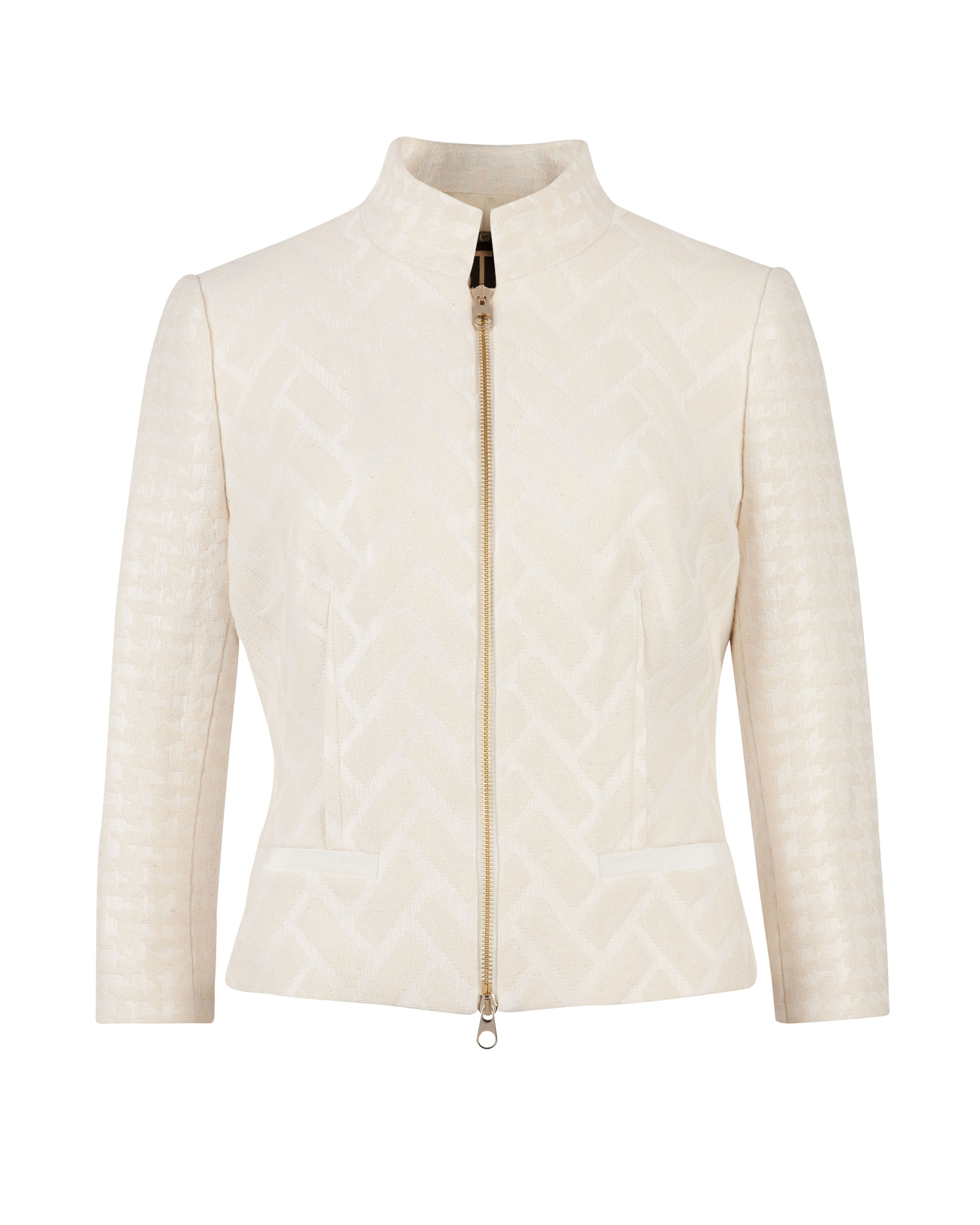 Idelle flared peplum back jacket