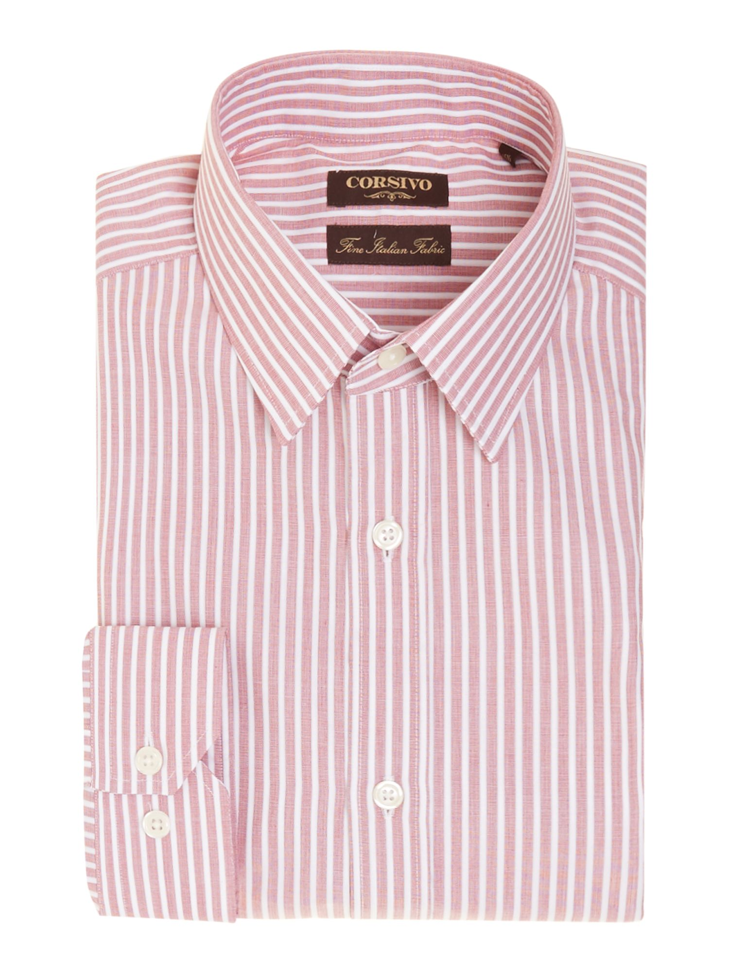 Bernado end on end stripe shirt