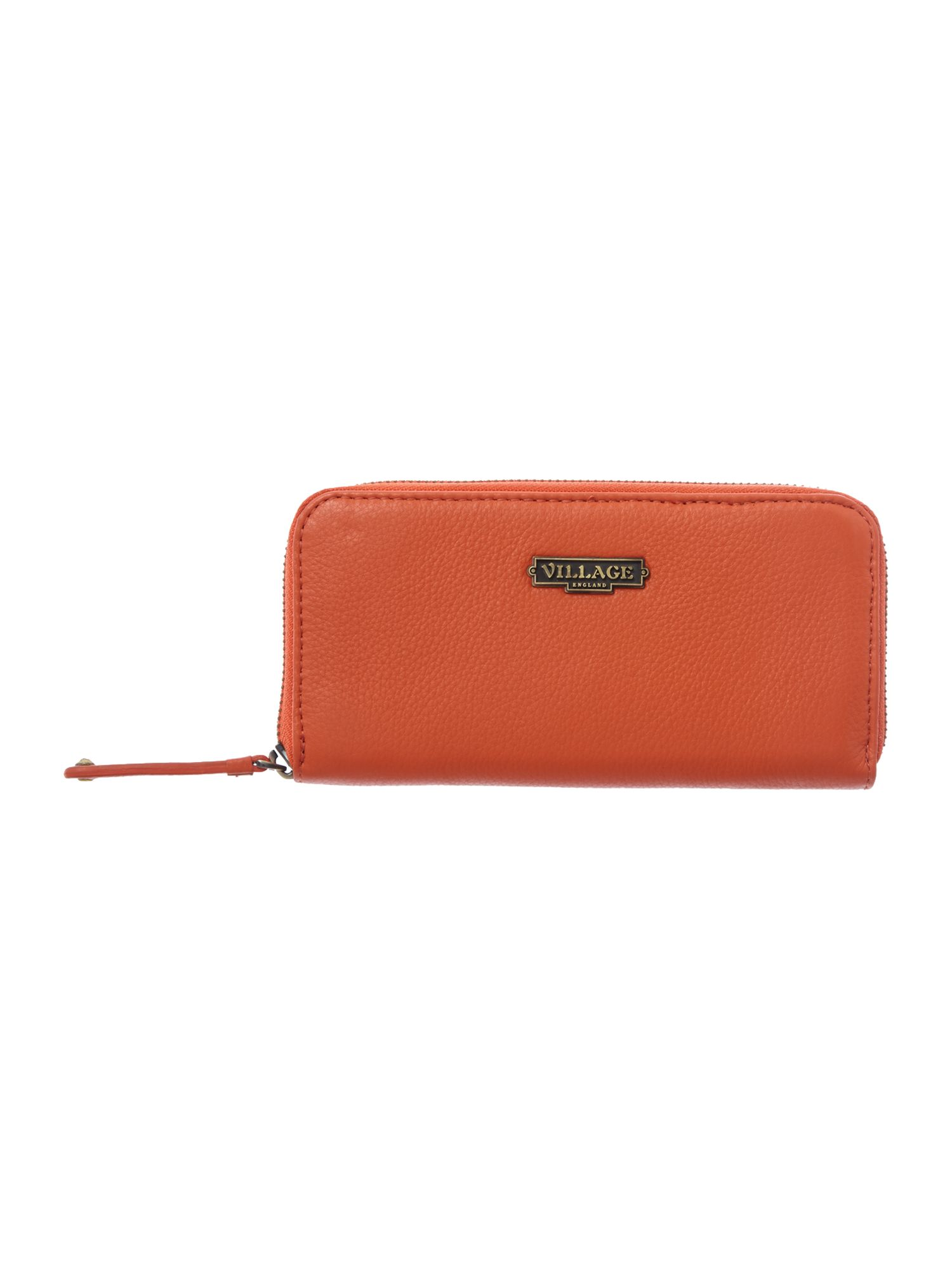Ayesgarth orange zip around purse