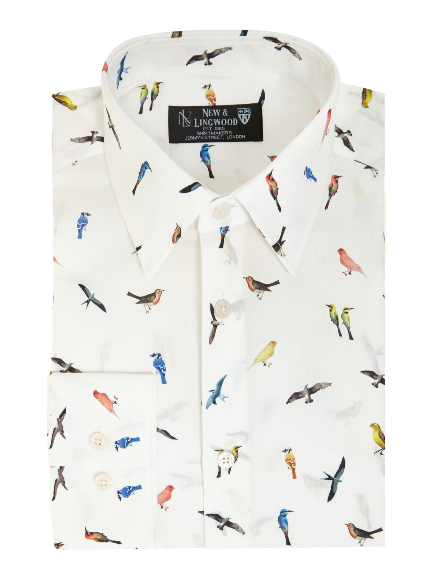 Melton bird print shirt