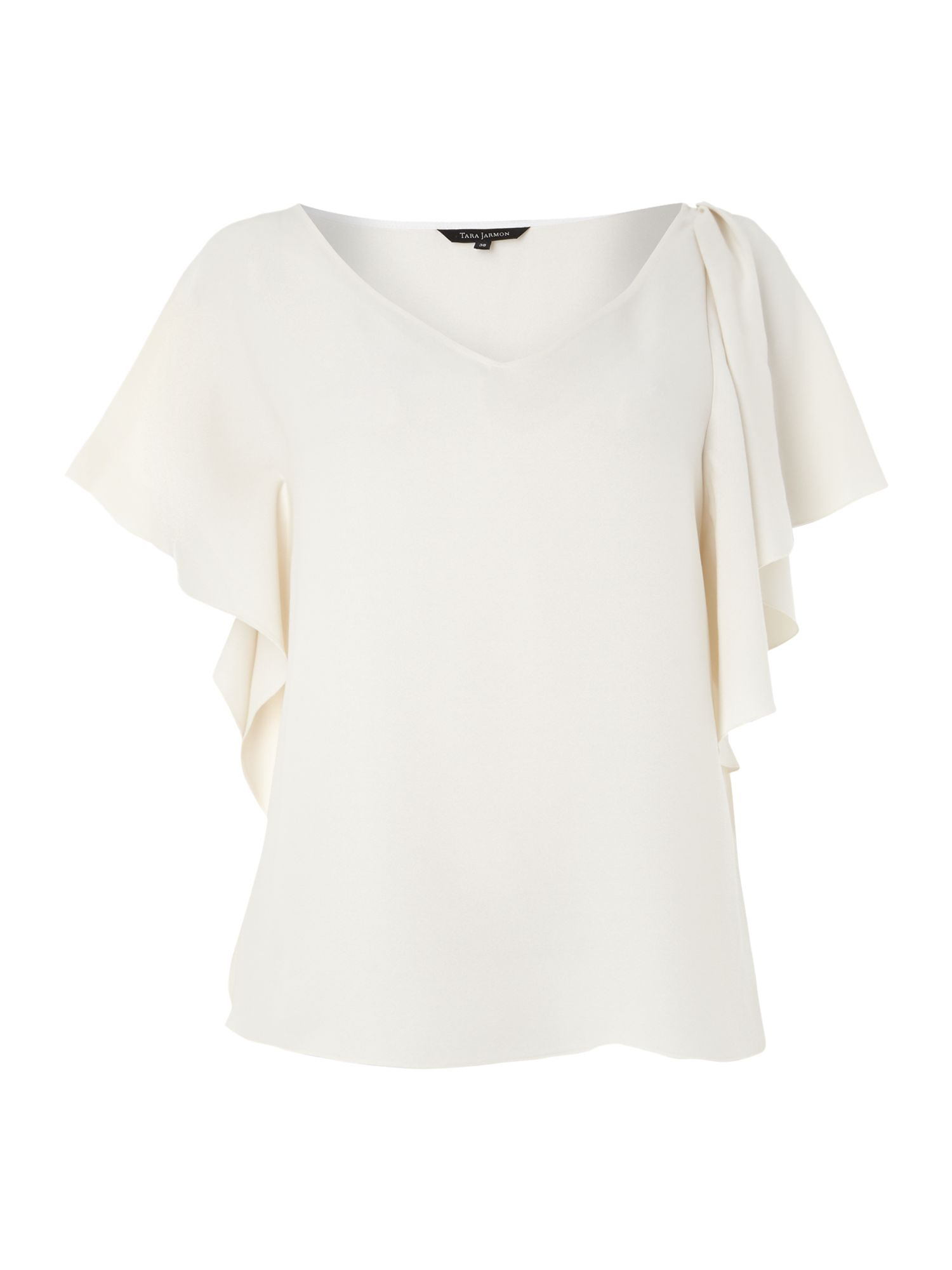 Frill sleeve v neck top