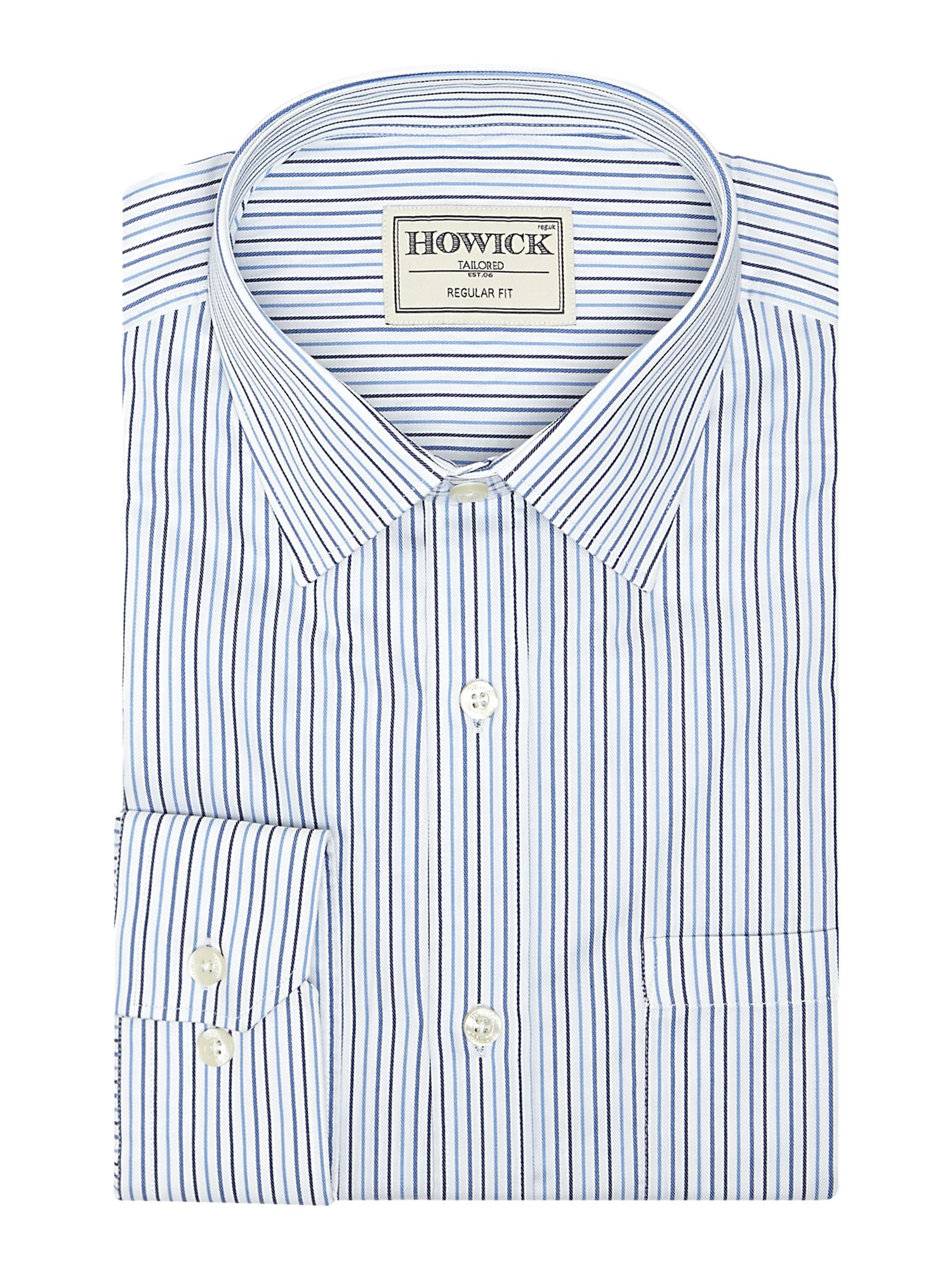 Roslindale multi stripe shirt with pocket