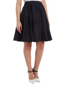 Pleated front A-line skirt