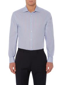 Chardon thin double stripe shirt with double cuff