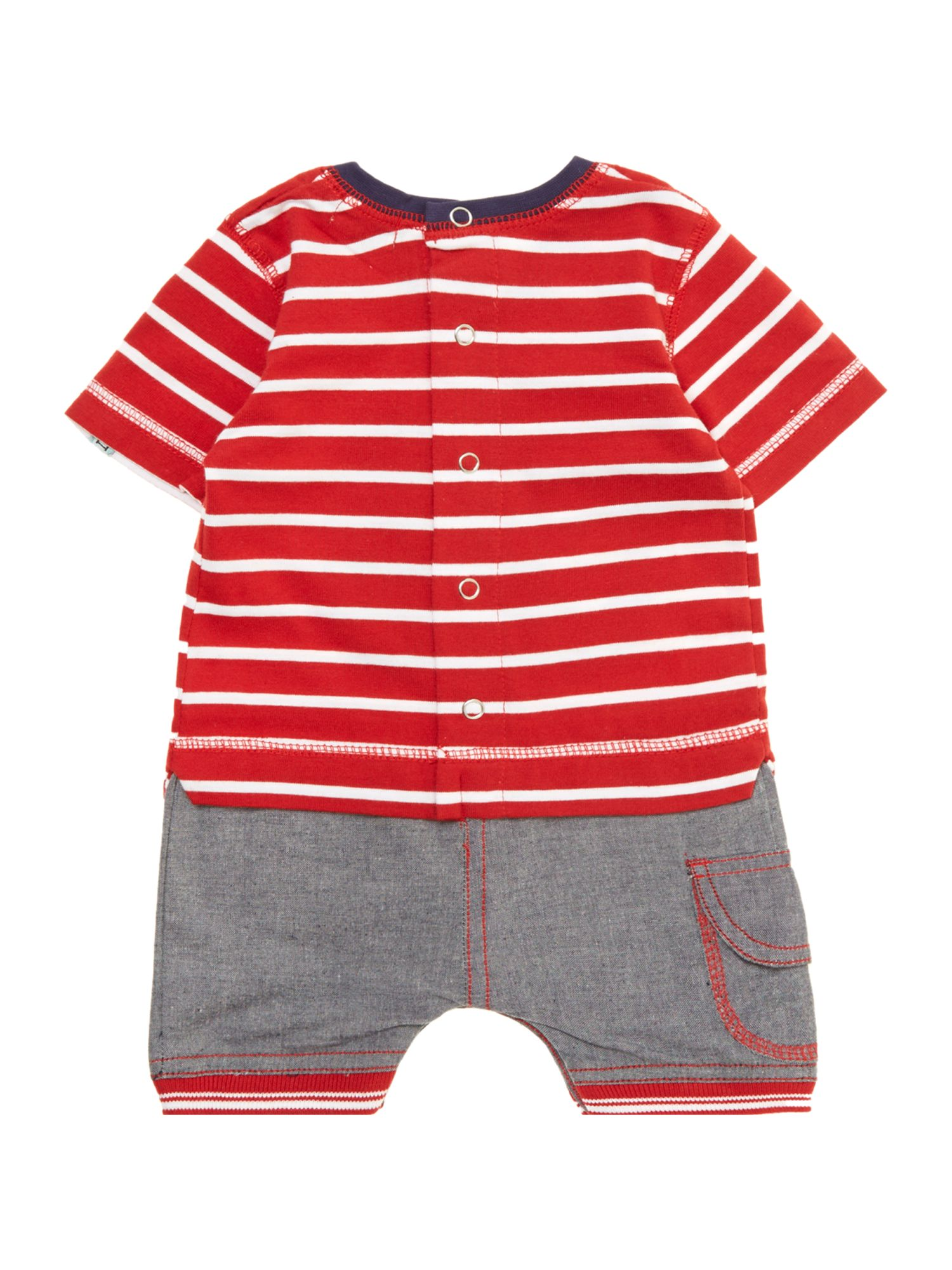 Baby boy whale mock-shorts set