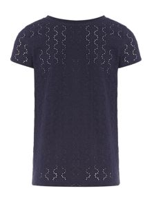 Girl`s broderie anglaise top