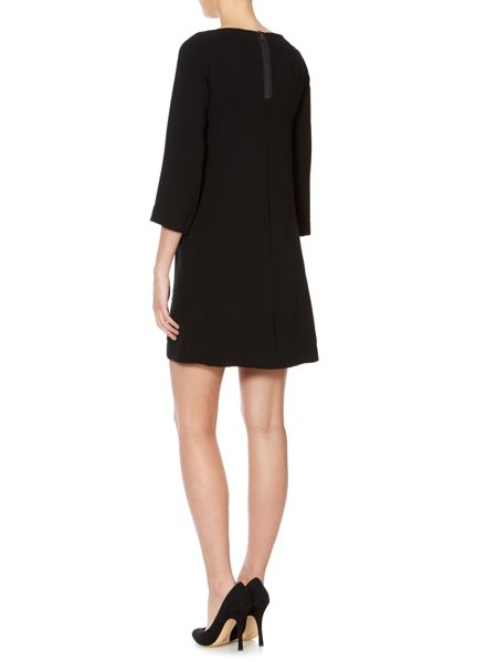 Marella Stivale long sleeved shift dress with brooch